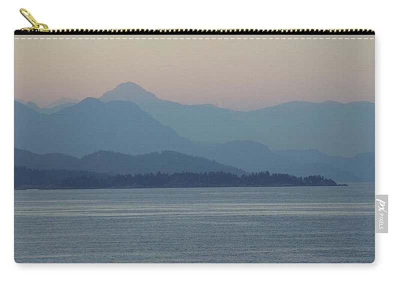 Carry-all Pouch featuring the photograph Misty Hills On The Strait by Cindy Johnston