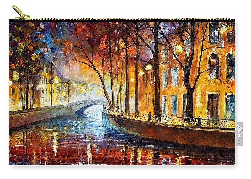 Afremov Carry-all Pouch featuring the painting Misty Melody by Leonid Afremov