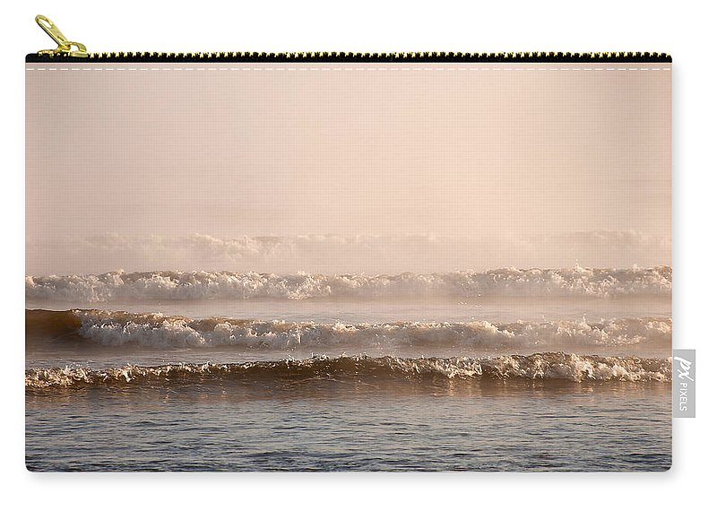 Blue Carry-all Pouch featuring the photograph Misty Mist by Svetlana Sewell