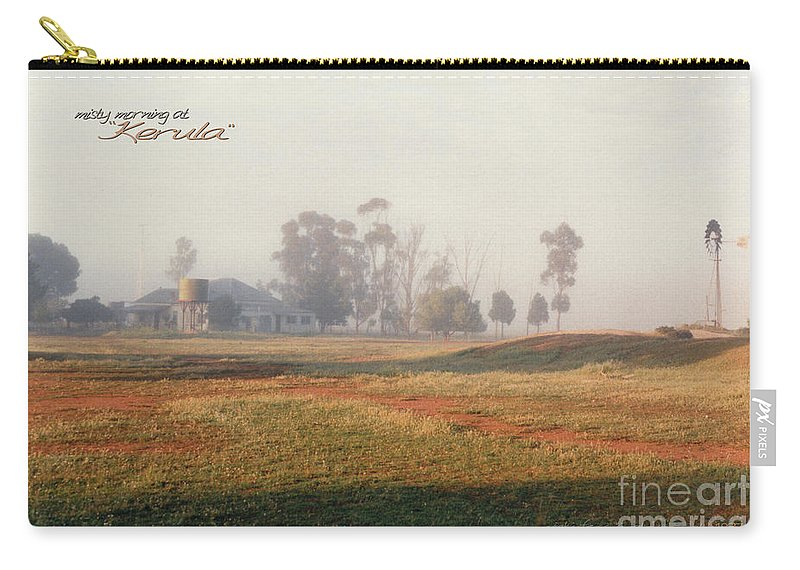 Vicki Ferrari Photography Carry-all Pouch featuring the photograph Misty Morning At Kerula by Vicki Ferrari