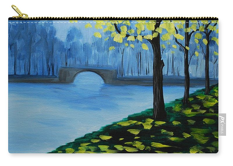 Mist Carry-all Pouch featuring the painting Misty Morning by Emily Page