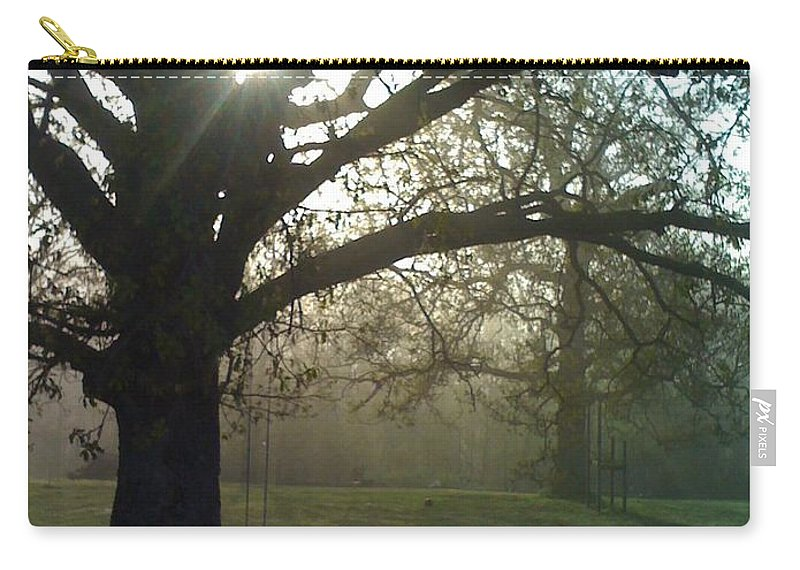 Mist Carry-all Pouch featuring the photograph Misty Morning by Nadine Rippelmeyer