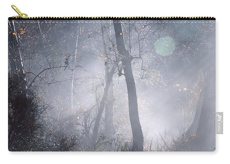 Ojai Ca. Carry-all Pouch featuring the photograph Misty Morning - Ojai California by Soli Deo Gloria Wilderness And Wildlife Photography