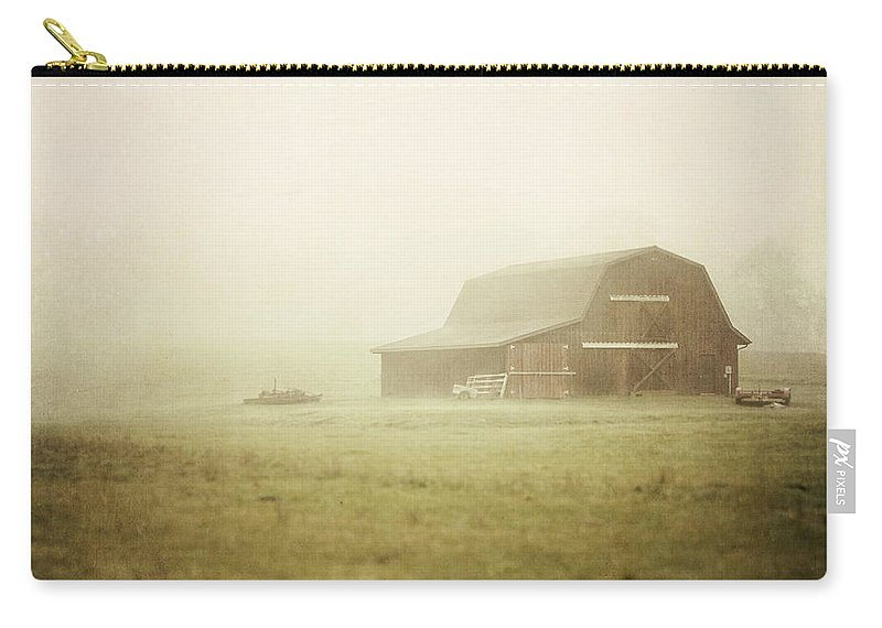 Landscape Carry-all Pouch featuring the photograph Misty Morning On The Farm by Lisa Russo