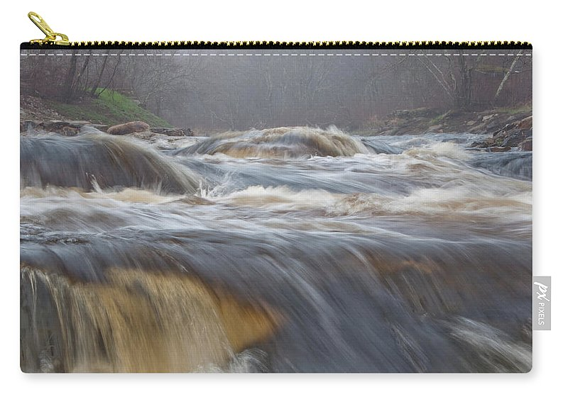 Photography Carry-all Pouch featuring the photograph Misty Morning On The River by Steven Natanson