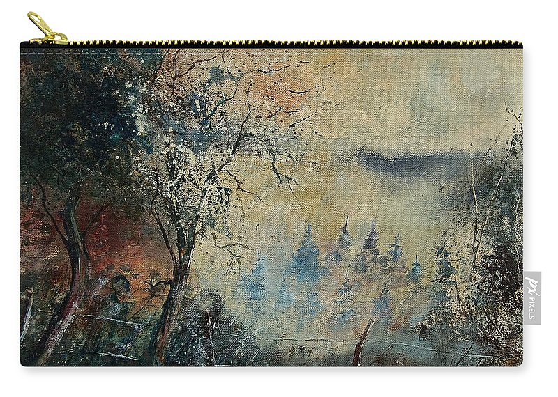 Tree Carry-all Pouch featuring the painting Misty Morning by Pol Ledent