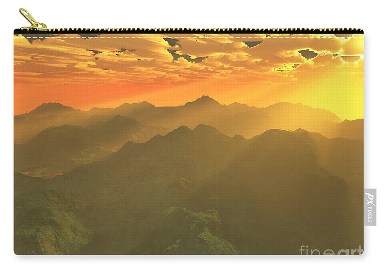 Computer Art Carry-all Pouch featuring the digital art Misty Mornings In Neverland by Gaspar Avila
