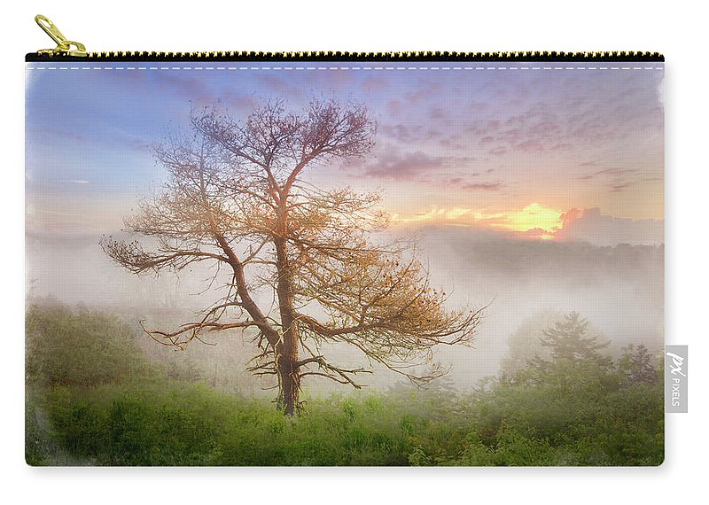 Appalachia Carry-all Pouch featuring the photograph Misty Mountain by Debra and Dave Vanderlaan