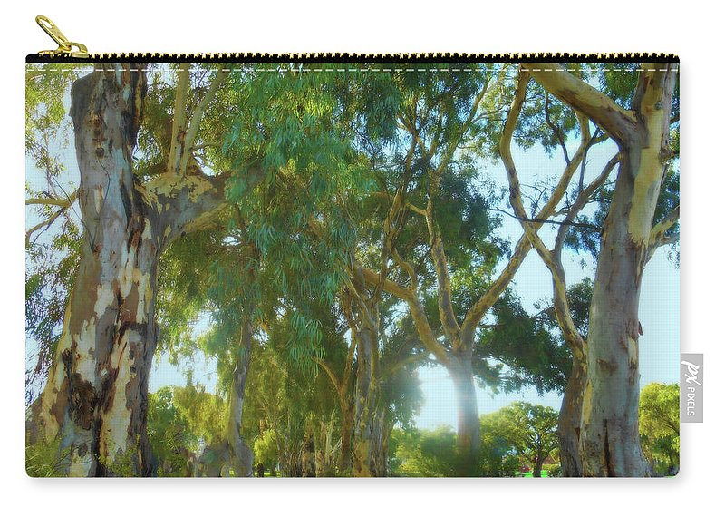 Forest Carry-all Pouch featuring the photograph Misty Mountain Top by Mark Blauhoefer