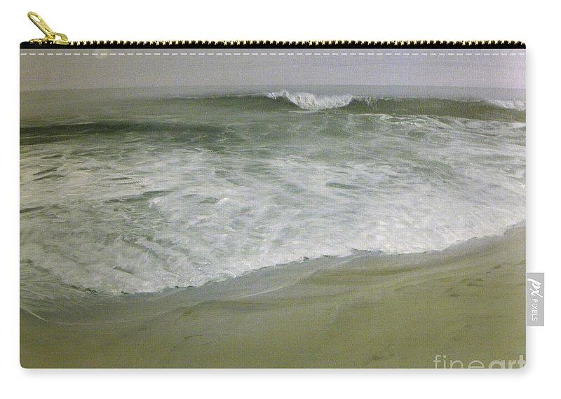 Storm Carry-all Pouch featuring the painting Misty Seas by Patty Moramarco