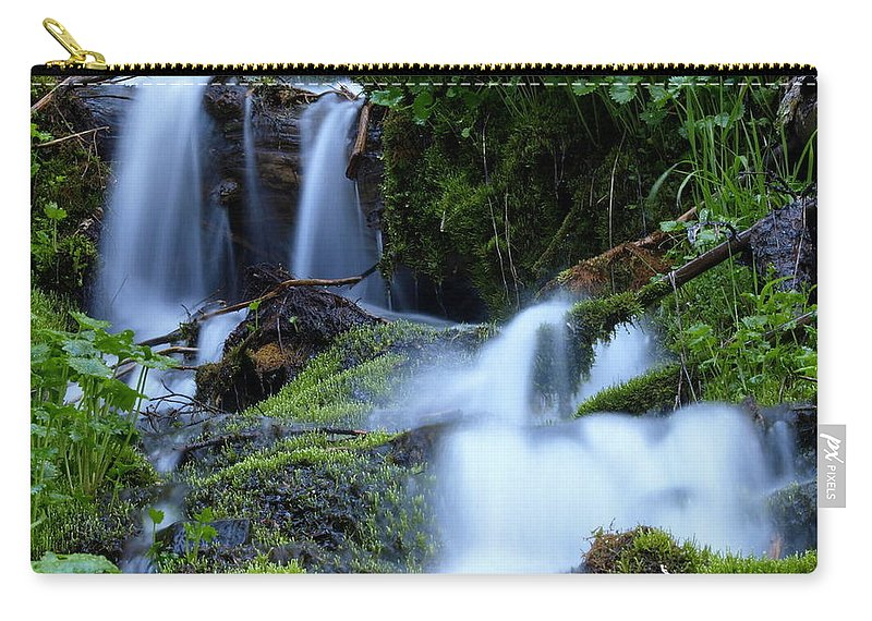 Water Carry-all Pouch featuring the photograph Misty Waters by DeeLon Merritt
