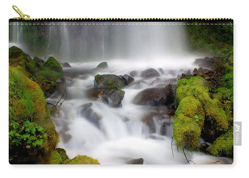 Waterfall Carry-all Pouch featuring the photograph Misty Waters by Marty Koch