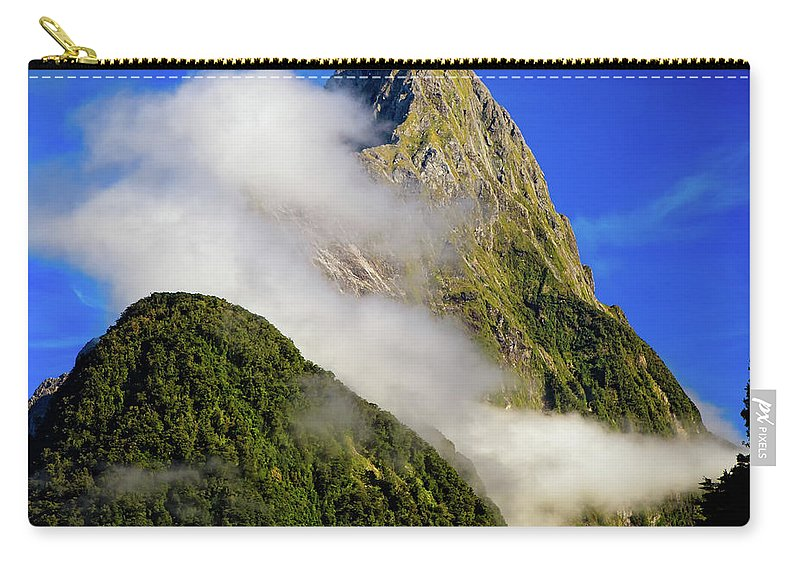 New Zealand Carry-all Pouch featuring the photograph Mitre Peak by Doug Sturgess