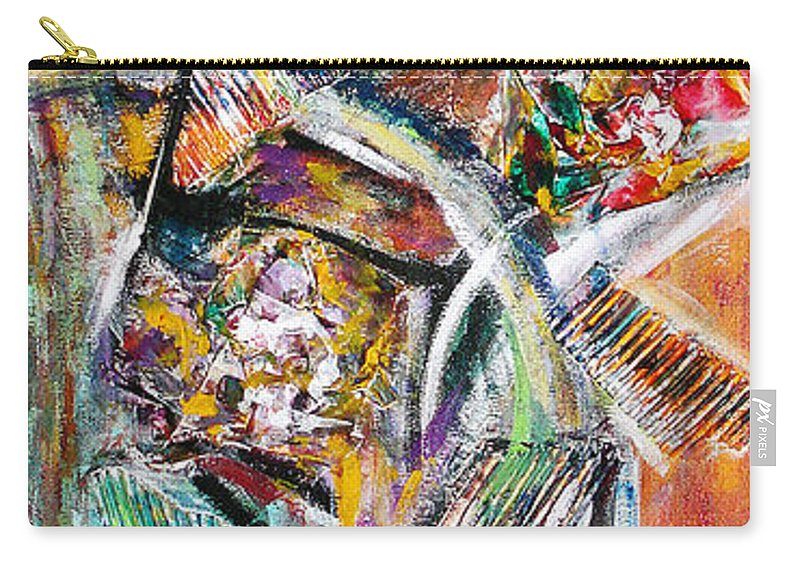 Color Abstract Carry-all Pouch featuring the painting Mix And Match by Yael VanGruber