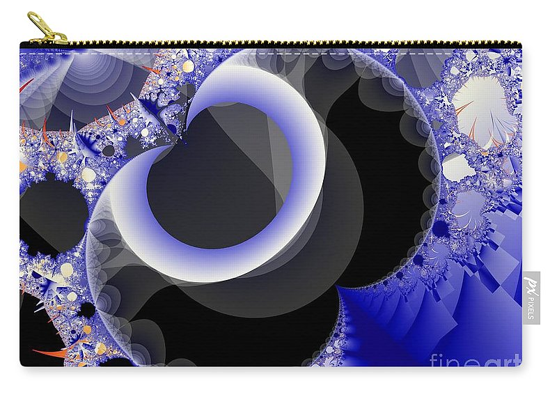 Fractal Image Carry-all Pouch featuring the digital art Mix Of Blue And Gray by Ron Bissett