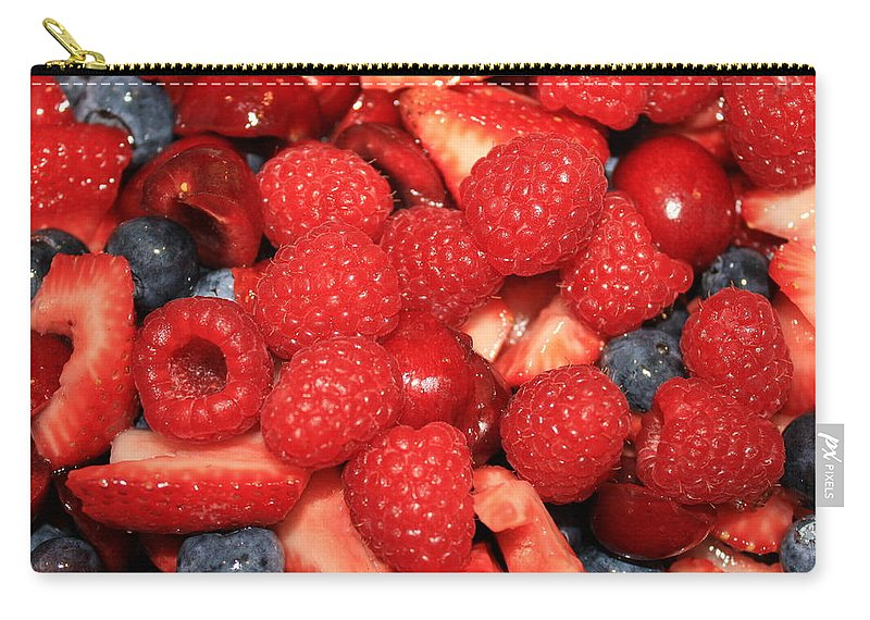 Ffood And Beverage Carry-all Pouch featuring the photograph Mixed Berries by Carol Groenen