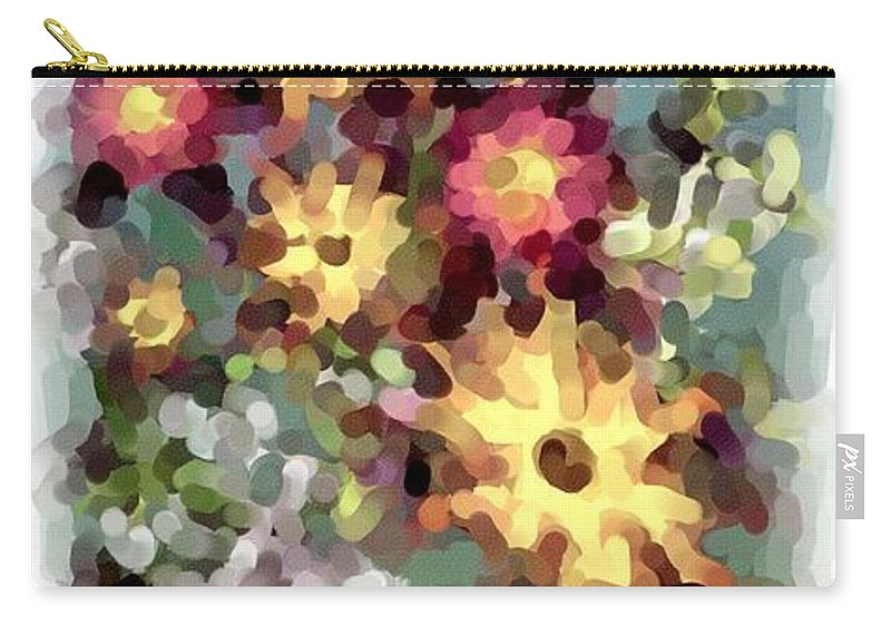 Fantasy Carry-all Pouch featuring the digital art Mixed Floral by David Lane