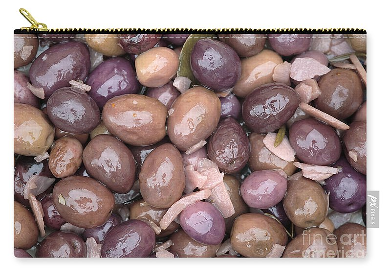 Mixed Carry-all Pouch featuring the photograph Mixed Olives by Neil Overy