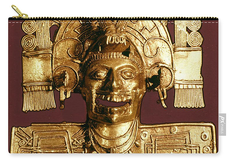 1400 Carry-all Pouch featuring the photograph Mixtec: God Of The Dead by Granger