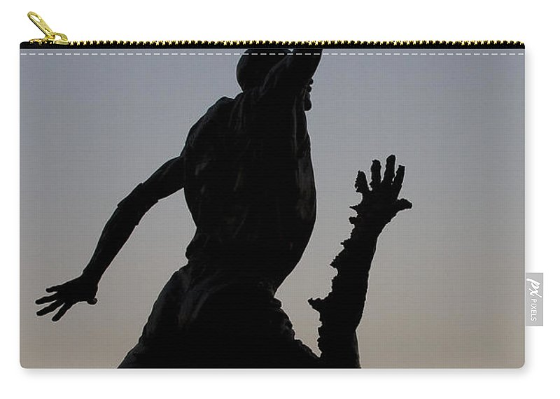 Chicago United Center Mj Micheal Jordan 23 Dark Basketball Carry-all Pouch featuring the photograph MJ by Andrei Shliakhau