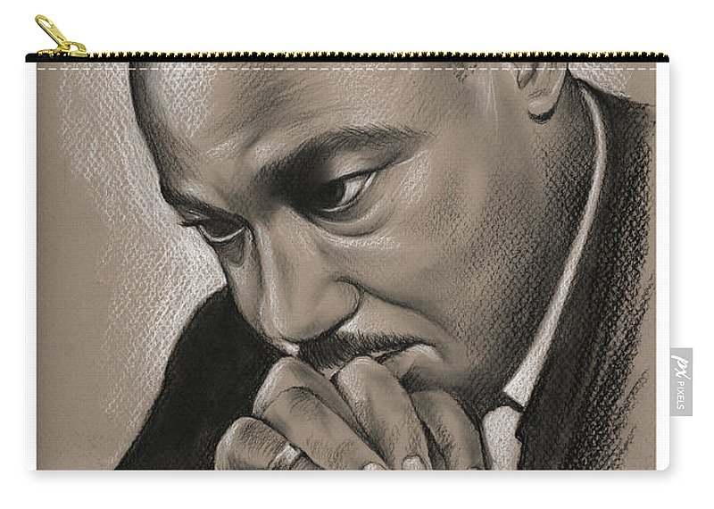 Mlk Carry-all Pouch featuring the drawing MLK by Greg Joens