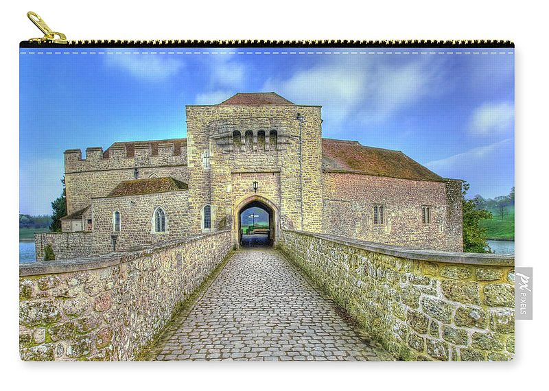 Leeds Castle Carry-all Pouch featuring the photograph Moat House Leeds Castle by Chris Thaxter