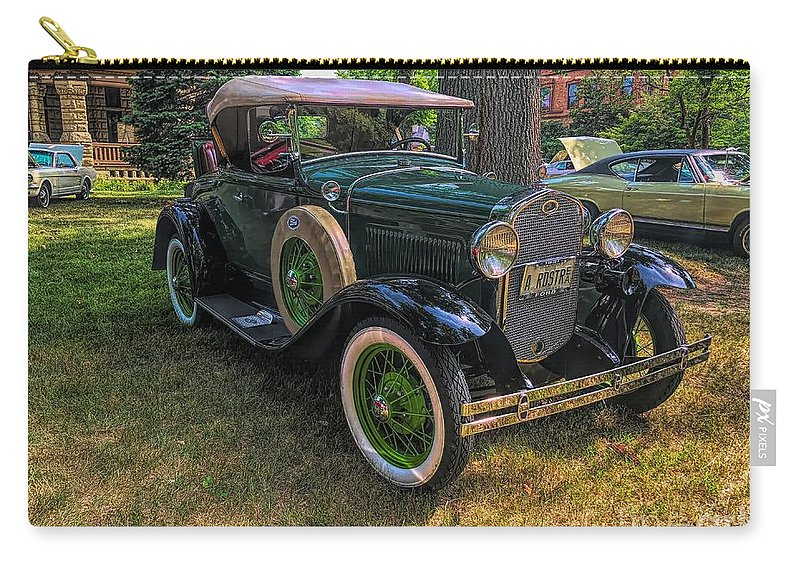 Model A Ford Carry-all Pouch featuring the photograph 1928 Model A Ford by Luther Fine Art