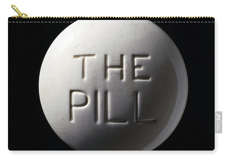 Historic Carry-all Pouch featuring the photograph Model Of Contraceptive Pill, C.1970 by Wellcome Images