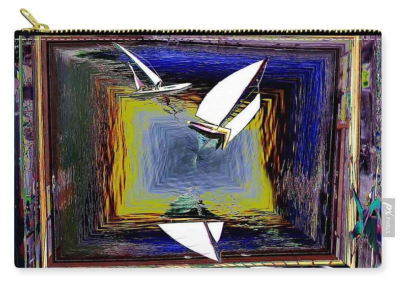 Sail Carry-all Pouch featuring the digital art Model Sailboats by Tim Allen