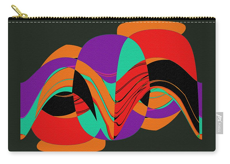 Modern Art 2 Carry-all Pouch featuring the painting Modern Art 2 by Methune Hively