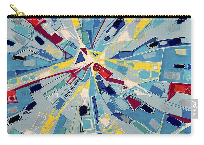 Abstract Carry-all Pouch featuring the painting Modern Art One by Lynne Taetzsch