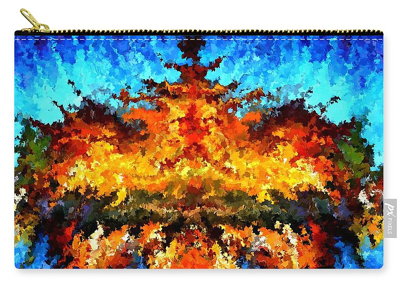 Contemporary Carry-all Pouch featuring the painting Modern Composition 11 by Rafi Talby