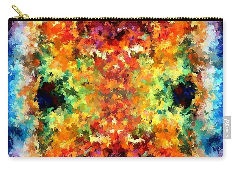 Contemporary Carry-all Pouch featuring the painting Modern Composition 12 by Rafi Talby