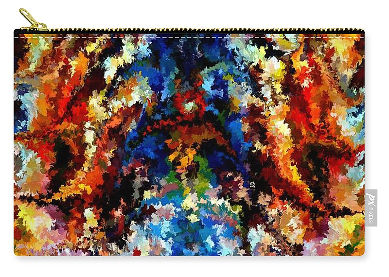 Contemporary Carry-all Pouch featuring the painting Modern Composition 13 by Rafi Talby
