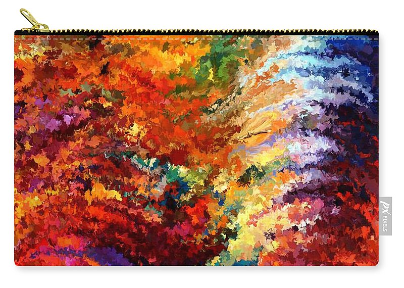 Contemporary Carry-all Pouch featuring the painting Modern Composition 14 by Rafi Talby