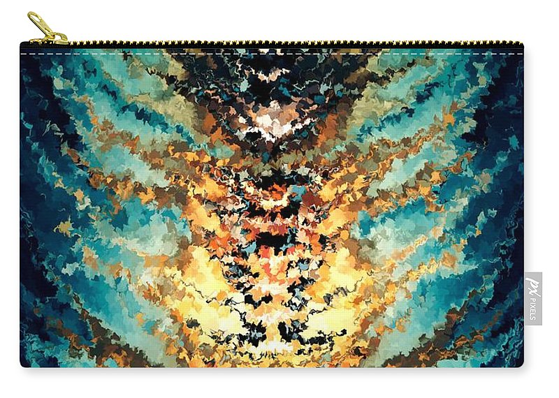 Contemporary Carry-all Pouch featuring the painting Modern Composition 15 by Rafi Talby