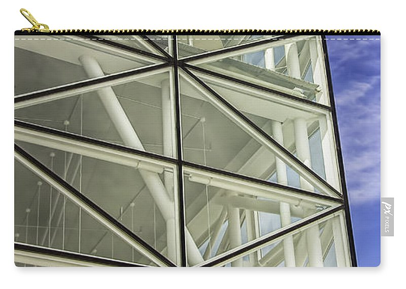 Architecture Carry-all Pouch featuring the photograph Modern Detail Bright by Antony McAulay