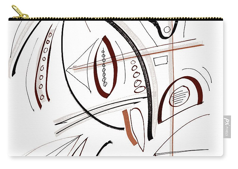 Modern Drawing Carry-all Pouch featuring the drawing Modern Drawing Sixty-seven by Lynne Taetzsch