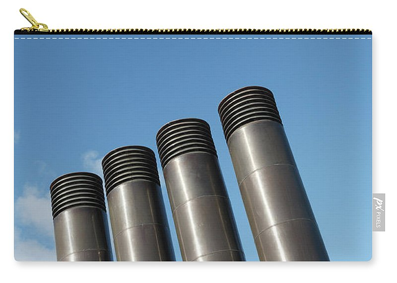 Chimney Carry-all Pouch featuring the photograph Modern Restaurant Chimneys by Gaspar Avila