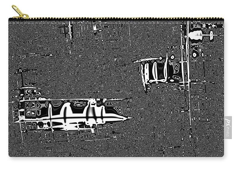 Modern Warfare Carry-all Pouch featuring the digital art Modern Warfare by Alex Porter