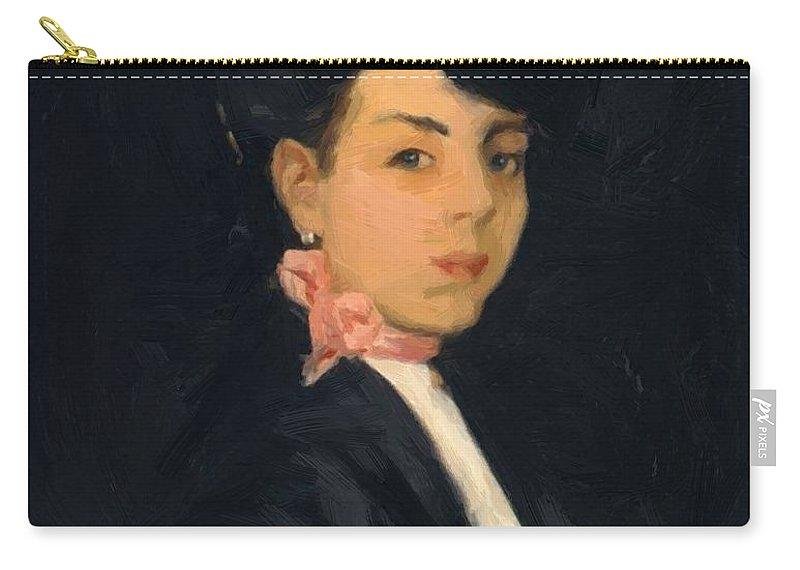 Modestilla Carry-all Pouch featuring the painting Modestilla De Madrid 1906 by Henri Robert