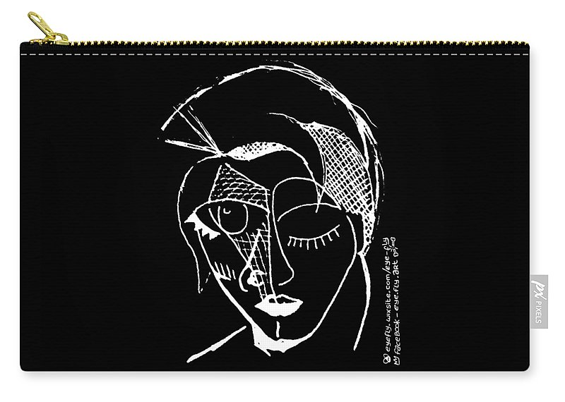 Carry-all Pouch featuring the painting Mohawk by Eye Fly