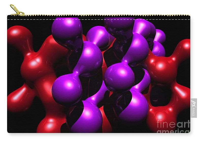 Abstract Carry-all Pouch featuring the digital art Molecular Abstract by David Lane