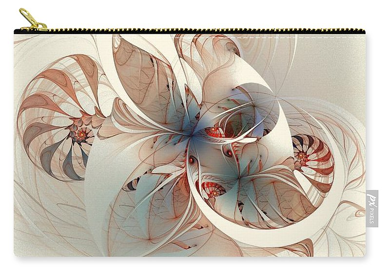 Carry-all Pouch featuring the digital art Mollusca by Amanda Moore
