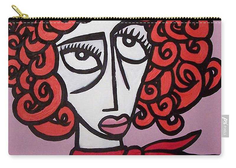 Portaits Carry-all Pouch featuring the painting Molly by Thomas Valentine