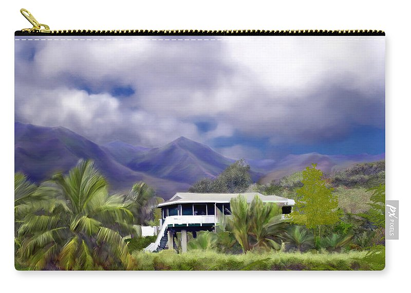 Hawaii Carry-all Pouch featuring the photograph Moloa A Bay Hideaway by Kurt Van Wagner