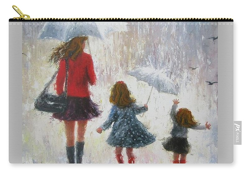 Mom Two Daughters Redheads Carry All Pouch For Sale By Vickie Wade