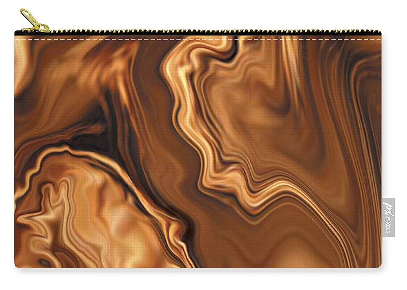Abstract Adam Art Blue Brown Copper Digital Eve Figurative Khan Kiss Love Night Passion Rabi_khan Se Carry-all Pouch featuring the digital art Moment Before The Kiss by Rabi Khan