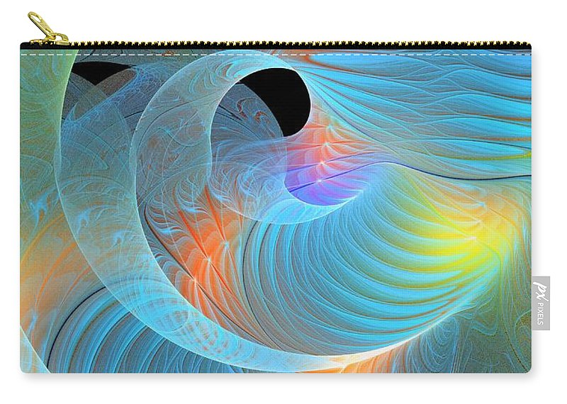 Digital Art Carry-all Pouch featuring the digital art Moment Of Elation by Amanda Moore