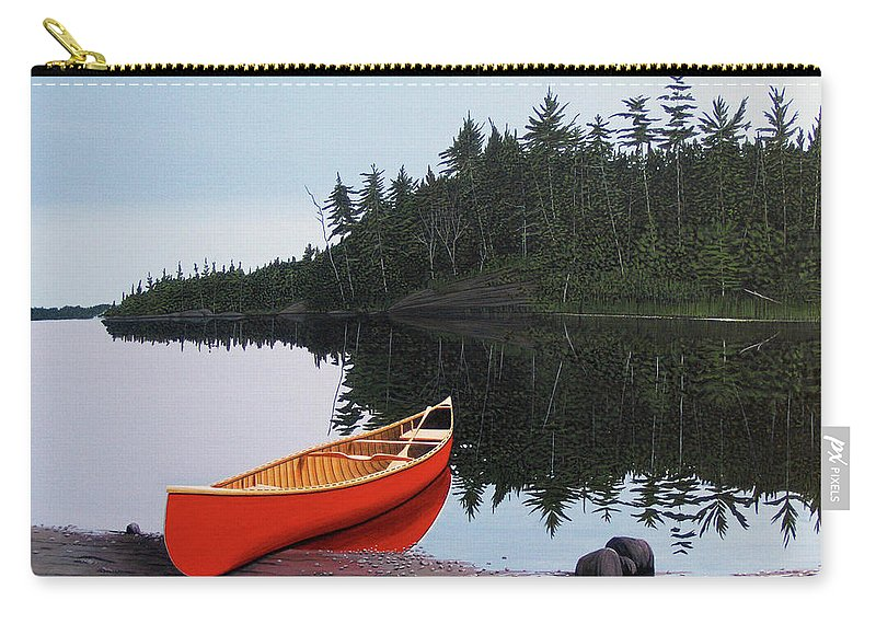 Landscapes Carry-all Pouch featuring the painting Moments Of Peace by Kenneth M Kirsch